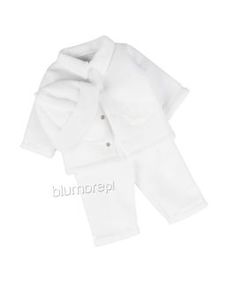 Śliczny komplet dla chłopca do chrztu 62 Jaś biały