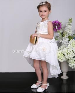 Piękna suknia balowa dla dziewczynki 100 - 140 Shami01 biel