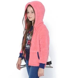 Modna futerkowa bluza dziewczęca 116 - 146 BL05 trzy kolory