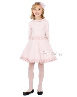 e227518d02 Efektowna sukienka 116-140 Mirabela różowa