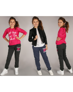 Ciepłe spodnie dresowe 116 - 158 sp06 trzy kolory