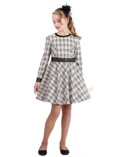 Sukienka w modną kratę 128-152 Ofelia