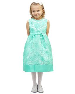Cudna sukienka w kwiaty 116-134 Alexa zielony