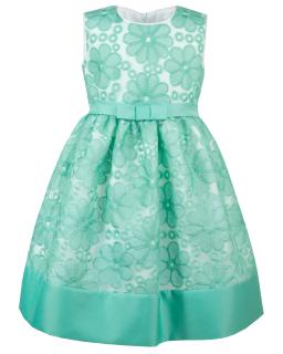 Cudna sukienka w kwiaty Alexa kolor zielony rozm 122