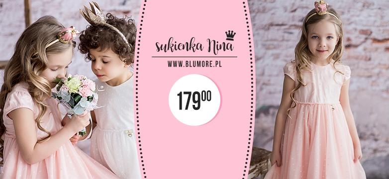 Sukienka Nina — świetny fason dla małych księżniczek!