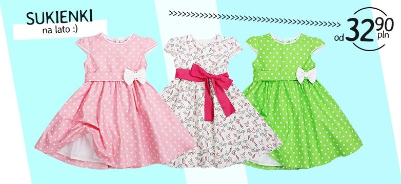 Sukienki na lato dla dziewczynek — sklep!